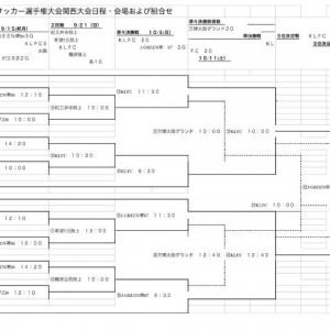 36回皇后杯全日本女子サッカー選手権大会関西大会日程